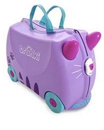 Trunki Maleta correpasillos y maletas de mano infantiles: Gato Cassie (Lila)